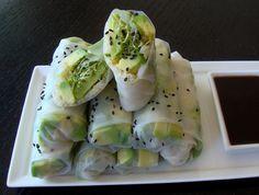 Raw Vegetable Rolls with Teriyaki Sauce