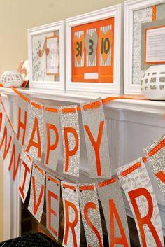 Happy Anniversary!  Set up night before