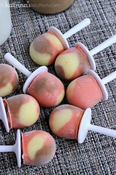 Neapolitan Greek Yogurt Pudding Pops Recipe packed with protein!