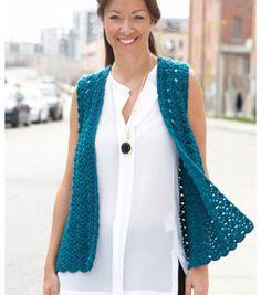 Up to 5x. Soft Draper Crochet Vest