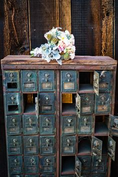old mail boxes- love it!