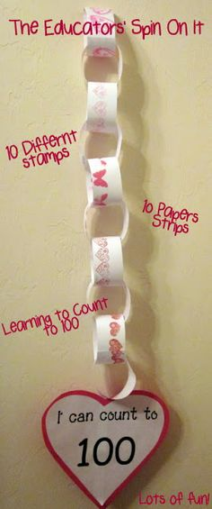 Learn to Count to 100.  Perfect project to celebrate the 100th Day of School from The Educators' Spin On It