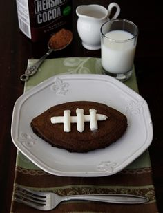 Wow! Football style pancakes!!! Your boy will love it!!!
