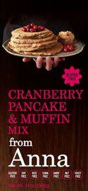 anna cranberri, cranberri pancak, muffin mix, pancak muffin