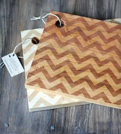 Modern Chevron Cutting Boards.