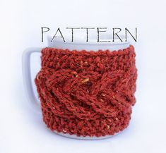Dress up your coffee or tea cup with one of these cup cozies. Make several and give them as gifts! This is a pattern only, not the actual cup cozy!