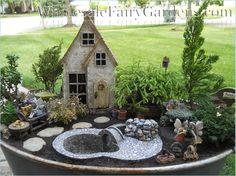 fairi hous, miniatur garden, fairi garden, luxuri garden, miniature gardens