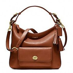 LEGACY LEATHER COURTENAY HOBO in BRASS / COGNAC