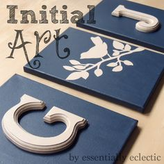 Essentially Eclectic ~ A Creative Place for Wherever Life Leads: DIY Initial Wall Art