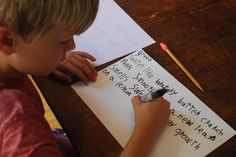 family writing lab :: sensing color. writing with your kids is a great way to get a little creative time in yourself! have you written together?