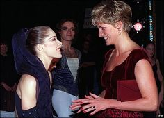 Darcey Bussell and Princess Diana =) Two beautiful ladies!
