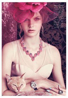 Vogue Japan  August 2012  Photographer: Elena Rendina  Model: Lenka Varvarova  Stylist: Satoshi Hirota  Makeup: Yuki