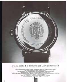 Publicité Advertising 1966 Montre LIP Electronic