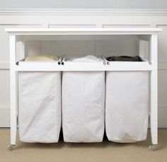 Folding and sorting table    Laundry Organization