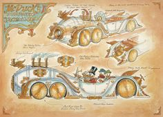 Steampunk Tendencies | McDucks-Steam-Powered-Time-Travel-Sedan-mechanical-kingdoms