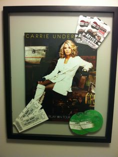 A cool way to display programs and tickets from concerts, games and shows.