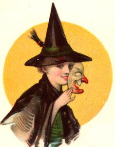 witch halloween 1900-1915 greeting