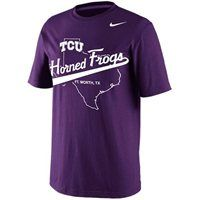 Nike TCU Horned Frogs State Crew T-Shirt