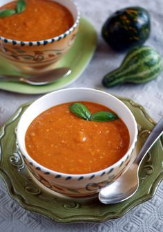 sugar free, gluten free, dairy free, egg free, vegan Roasted Squash and Red Pepper Soup Recipe | Diet, Dessert and Dogs