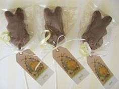 Chocolate Dipped Peeps on a Stick