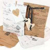paper rose, vintag postag, small vintag, vintage, paper bags, kraft paper, boxes, papers, 10 small