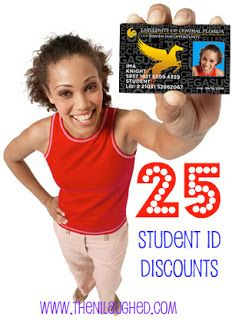 25 Student ID Discounts. I pay enough for tuition I might as well put this student ID to good use! Colleges Class, Shops Trusper, Student Id Discount, Saving Money, Semester Left, 25 Student, Fun Shops, 25 Places, Couples Semester