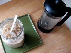Perfect Iced Coffee --> I've saved a TON of money making my own & it is DELISH! #coldbrewmethod The cold brew method is simply soaking 1/4 cup of coffee grounds overnight in 1 cup of cold water. Let sit out on the counter overnight. The next morning, add another cup of cold water. Then strain the grounds and pour over ice…click through for adding milk.