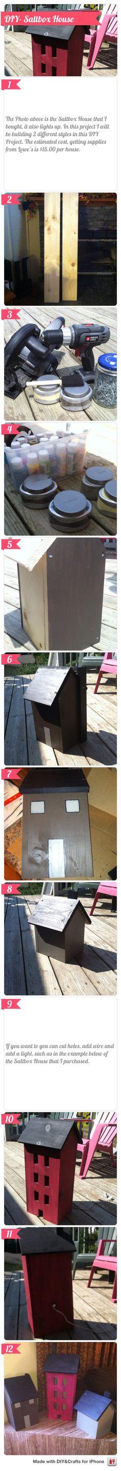 DIY- Saltbox House #DIYCraftsEditor #DIY #iOS @DIY & Crafts Editor iPhone App