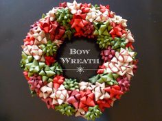 Bow Wreath - Tis the season for inexpensive Christmas craft ideas! Use bows to create this pretty wreath,