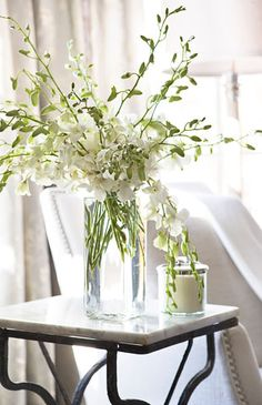 * interior design, white flowers, inspiration, linda mcdougald, marbles, fresh flowers, floral, arrang, white bouquet