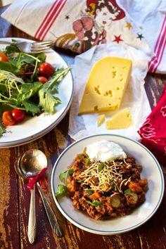 #Elk Chili w/ Roasted #Sweet Potatoes