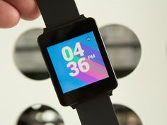 LG G Watch -- one of the first Android Wear watches. Comfy, dust- and water- resistant, and edgy.