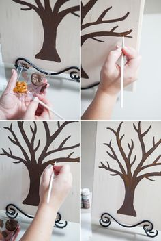 DIY // Make this creative guest book for your DIY wedding! The Painted Guest Book Tree!