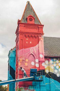 Atlanta painter Alex Brewer, aka Hense, creates street art that's captivating, inspiring, and completely wild.