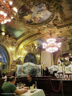 Le Train Bleu #artnouveau #restaurant in Gare de Lyon in #Paris on www.travelfranceonline.com #gilding