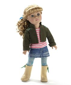Look at this #zulilyfind! Blonde Green Jacket Doll by Dollie & Me #zulilyfinds