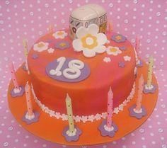 rainbow tye, flower cakes, rainbows, van flower, dye cake, flowers, kombi van, birthday cake, dyes