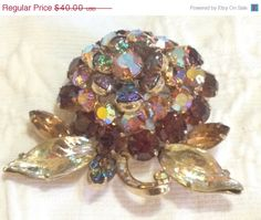 ON SALE Vintage Hollycraft Domed Crystal by GracesVintageGarden, $36.00