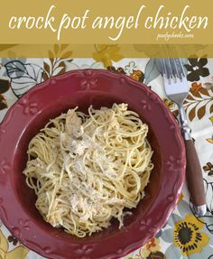 Quick and Easy: Crock Pot Angel Chicken Recipe #chicken #dinner