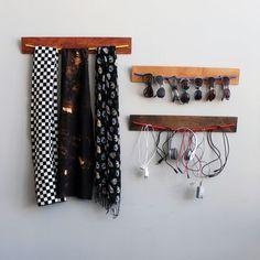 diy wooden bungee organizer