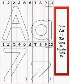 Classroom Freebies: Alphabet Number Puzzles