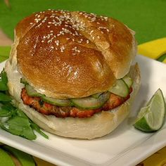 Allison Fishman's Salmon Burger has everything you like about a traditional burger without all the calories.