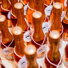 wedding favors, mini champagn, bridal parties, champagn favor