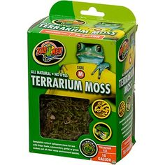 Zoo Med All Natural Reptile Terrarium Moss Substrate. Ideal for maintaining humidity for reptiles. Even hermit crabs!