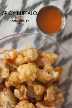 Eats // Spicy Buffalo Cauliflower. Click for the full recipe from http://FreshMommyBlog.com. #recipe #buffalo #healthy