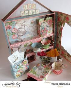 Look at this fun set from Yumi using Botanical Tea! Love this creative idea #graphic45