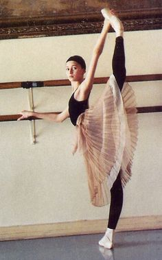 .At the barre