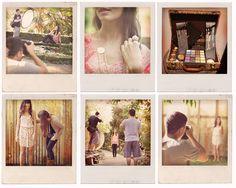 Behind the scenes Polaroids.