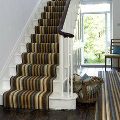 striped stair runner -