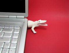 White Alligator USB Flash Drive